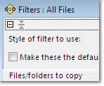 Filters Window: click to enlarge
