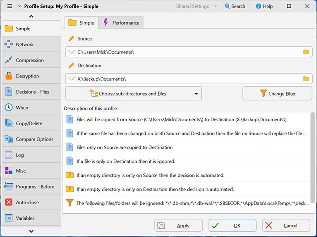SyncBackFree Screen shot